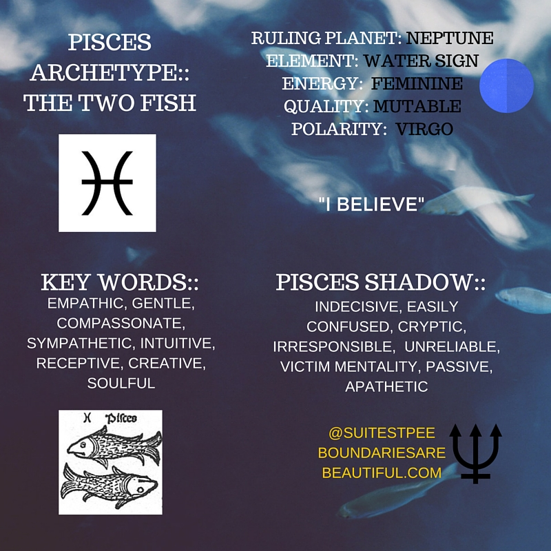BOUNDARIES ARE BEAUTIFUL   WHO IS PISCES?